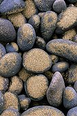 Pebbles and sand on a beach  Canary Islands