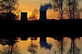 Nuclear Cattenom at sunset France