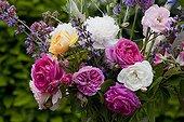 Flowers bouquet in a garden