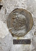 Medallion commemorating Ivo Horvat Risnjak NP Croatia