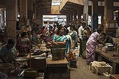 Woman at Market Fish Market Goubert Tamil Nadu India