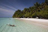 Snorkeling at Kurumba Island Indian Ocean Maldives