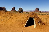 Hogan Navajo Monument Valley Tribal Park Arizona USA