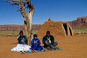 Navajo and Hogan Monument Valley Tribal Park Arizona