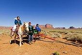 Navajo and Horse Monument Valley Tribal Park Arizona