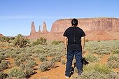 Navajo back Monument Valley Tribal Park Arizona USA