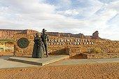 Statue of Indians Navajo Monument Valley Tribal Park Arizona