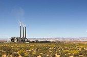 Navajo power plant in the desert Arizona USA  ; Coal-fired power