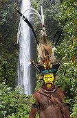 Huli Wigmen Timan Tumbu and Hale Johu from Tari PNG ; Superb Bird of Paradise breast shield, Papuan Lorikeet, Lesser Bird of Paradise, King of Saxony Bird of Paradise, Ribbon-tailed Astrapia, Stephanie'Astrapia