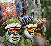 Tribal performers from the Anglimp District Waghi Province
