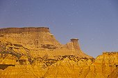 The Pisquerra in the desert of Bardenas Reales Spain