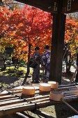 Komyo-ji temple purification fountain in autumn  Japon
