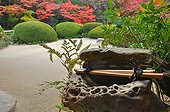 Shisendo temple purification well in autumn  Japon