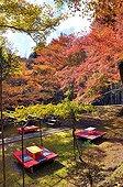 Restaurant tearoom 'Suzuriishi-tei' in autumn  Japon