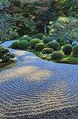 Gio-ji temple zen garden in autumn  Japon