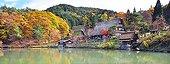 Traditional village of Takayama in autumn  Japon