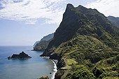 Cliff and the sea between San Jorge and Ponta Delgada Madeira