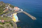 Coastal road to Ponta Delaga on the island of Madeira