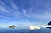 Kayakers in Holloway Bugt Greenland