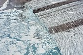 Emmanuerl gletscher se jetant dans la mer Côte Est Groenland