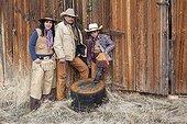 Cowboys family The Hideout Guest Ranch Wyoming USA ; Ramon Castro,Marisela Castro, Brayan Castro