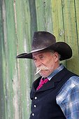 Portrait of Cowboy The Hideout Guest Ranch Wyoming USA ; Irvin Flora