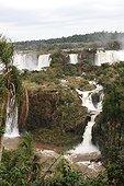 Cataracts of starting Iguazu Falls Parana Brazil