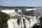 Cataracts of middle Iguazu Falls Parana Brazil