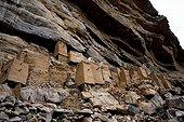 Mil attic in a cliff Teli Dogon Mali
