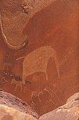 Elephant petroglyph site Peet Alberts Namibia