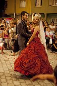 Gypsy wedding gypsy quatier in Canakkale Turkey  ; The Gypsy are installed for 600 years in this city of Turkey