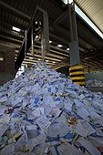 Paper recycling dumped Alsace France