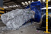Compression paper in a waste Alsace France