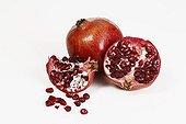 Pomegranates in studio