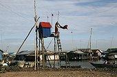 Village flottant à Kompong Chnnong Lac Tonlé sap Cambodge