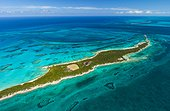 Vue aérienne du lagon de lîle de Nassau au Bahamas