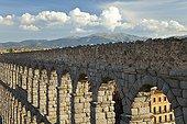 Roman aqueduct bridge of Segovia in Spain