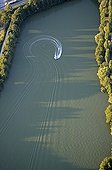 Waterskiing on a lake Franche-Comté France