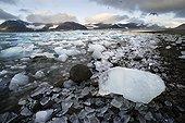Ice washed ashore Spitsbergen