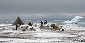 Camp on Spitsbergen coast