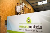 Part of the Micronutris team in their building  ; Micronutris is the first European company specialized in the breeding and development of products based on edible insects for food.