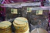 Sale of dried seaweed green Mekong Luang Prabang Laos