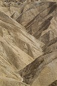 California Death Valley National Park ; Eroded badlands at Gower Gulch seen from Zabriskie Point. Death Valley National Park, California, USA.