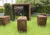 Chelsea Flower Show 2013 ; Chelsea Flower Show 2013, Stockton Drilling's 'As Nature intended', Designer Jamie Dunstan. Silver Gilt Flora medal<br/>Hordeum;Taxus baccata
