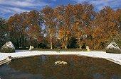 Jardins d'Albertas in Provence under snow  France ; Landscaper: Jean-Baptiste d'Albertas