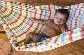 Embera child sleeping in a hammock Chagres NPPanama