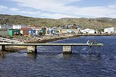 Fishing port of Saint-Pierre Saint-Pierre and Miquelon ; once popular but now almost deserted.