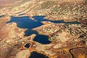 Tundra Lakes Region Southern Lakes Yukon Canada ; from the seaplane flying Rose Lake - Whitehorse