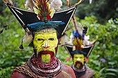 Huli Wigman with ceremonial head dress - Papua