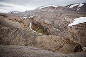 Arctic landscape - Spitsbergen Svalbard Temple Fjord